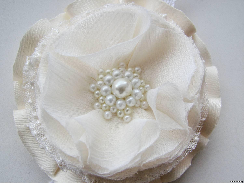 Как сделать цветок из ткани на платье своими руками? 20
