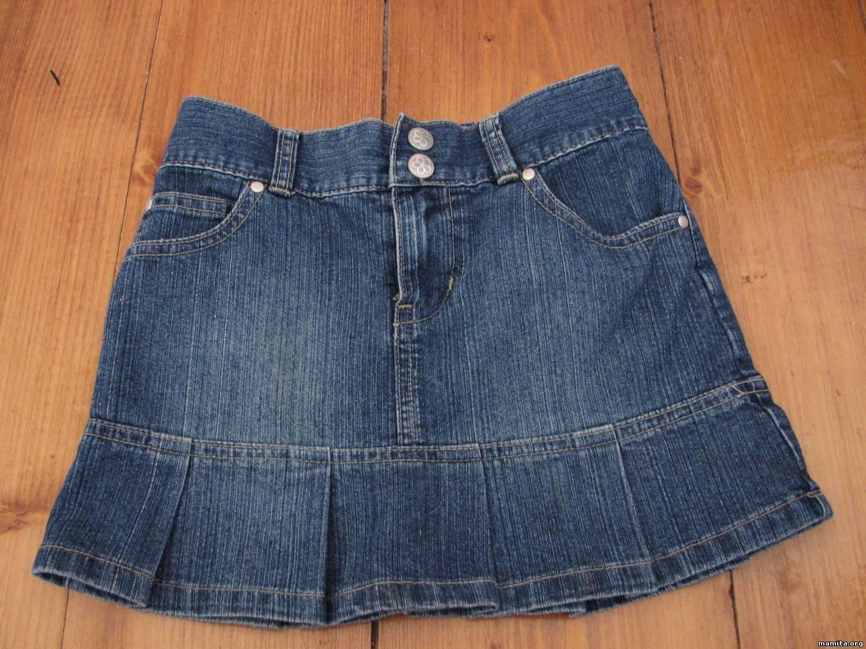 Переделываем джинсовую юбку своими руками